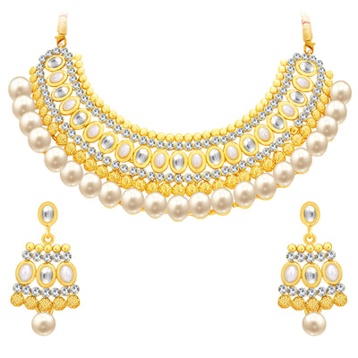 Sukkhi Divine Gold Plated AD Necklace Set For Women-1