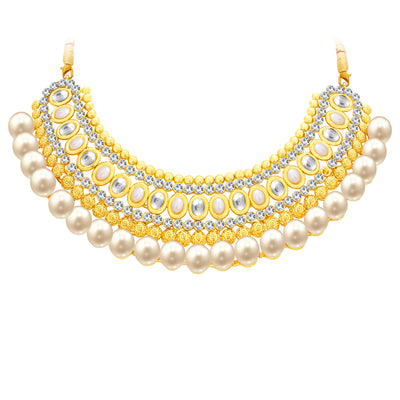 Sukkhi Divine Gold Plated AD Necklace Set For Women-3