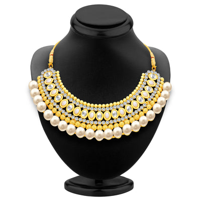 Sukkhi Divine Gold Plated AD Necklace Set For Women-2