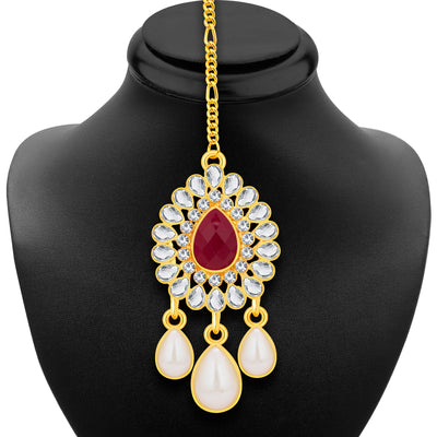 Sukkhi Fancy Gold Plated AD Necklace Set For Women-6