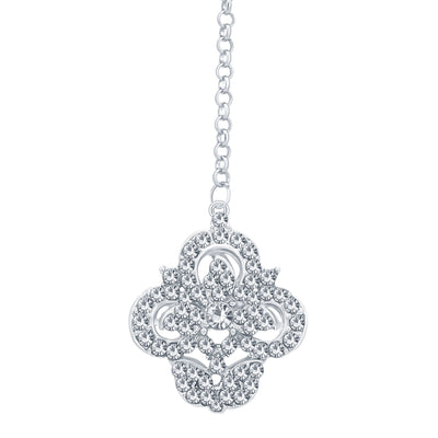 Sukkhi Intricately Rhodium Plated AD Necklace Set For Women-7