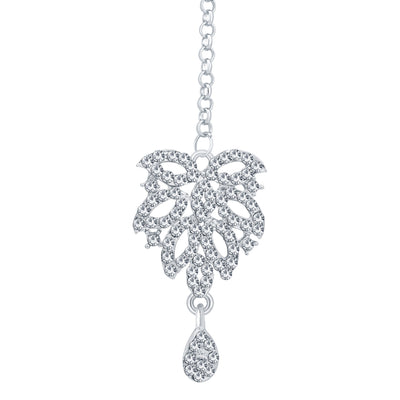 Sukkhi Exquitely Rhodium Plated AD Necklace Set For Women-7