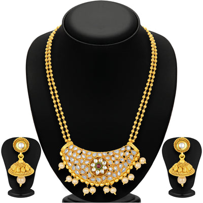 Sukkhi Fabulous Gold Plated Necklace Set For Women-1