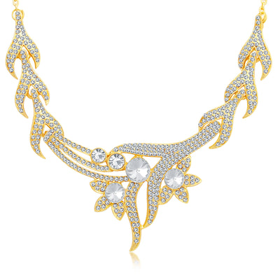 Sukkhi Classic Gold Plated AD Necklace Set For Women-1