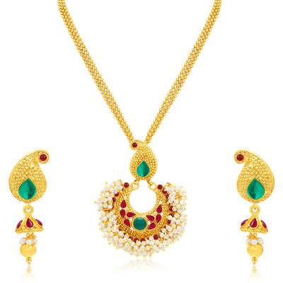 Sukkhi Bewitching Gold Plated Set of 2 Necklace Set Combo For Women-1