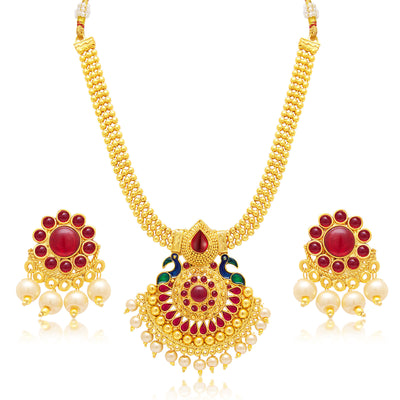 Sukkhi Gleaming Gold Plated Set of 2 Necklace Set Combo For Women-2