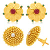 Sukkhi Wavy Laxmi Temple Coin Gold Plated Set Of 2 Pair Earring Combo For Women