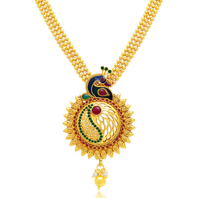 Sukkhi Exquisite Peacock Gold Plated Necklace Set For Women-1