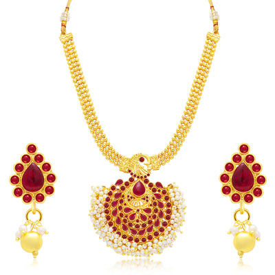 Sukkhi Enchanting Gold Plated Set of 2 Necklace Set Combo For Women-1