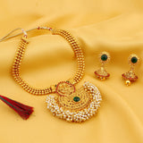 0015 Sukkhi Shimmering Gold Plated Necklace Set For Women