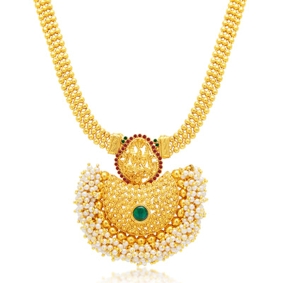 Sukkhi Shimmering Gold Plated Necklace Set For Women-1