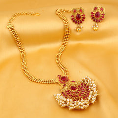 0017 Sukkhi Divine Kairi Gold Plated Necklace Set For Women