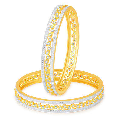 Sukkhi Finely Gold and Rhodium Plated CZ Bangles