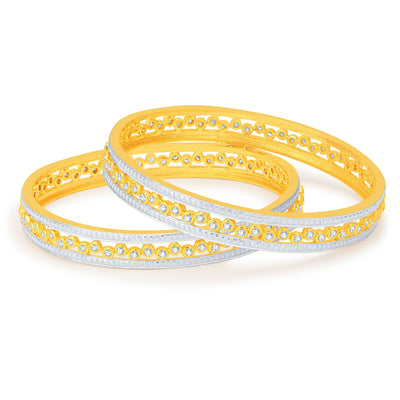 Sukkhi Finely Gold and Rhodium Plated CZ Bangles-1