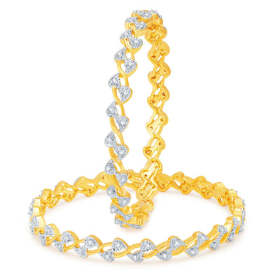 Sukkhi Cluster Gold and Rhodium Plated CZ Bangles