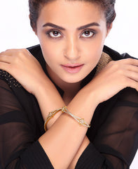 Sukkhi Surveen Chawla Collections Fine Gold and Rhodium Plated CZ Bangles