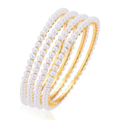 Sukkhi Excellent Gold Plated Bangles For Women