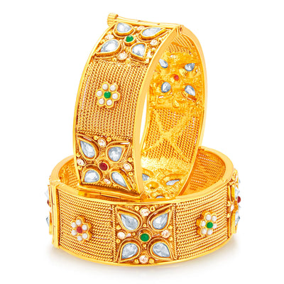 Sukkhi Modish Gold Plated Bangle For Women