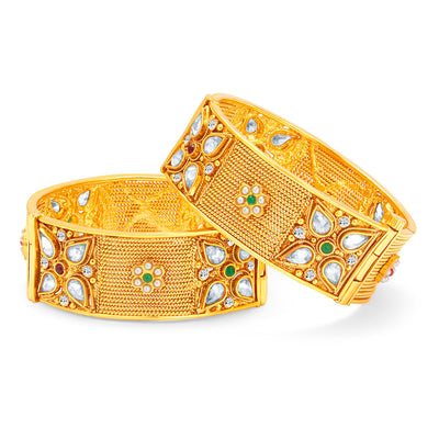 Sukkhi Modish Gold Plated Bangle For Women-1