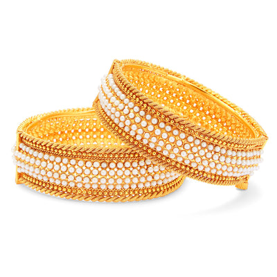 Sukkhi Marvellous Gold Plated Pearl Bangle For Women-1