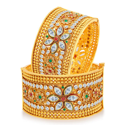 Sukkhi Pleasing Gold Plated Bangle For Women