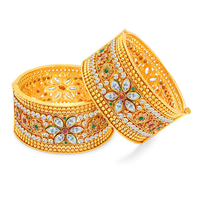 Sukkhi Pleasing Gold Plated Bangle For Women-1