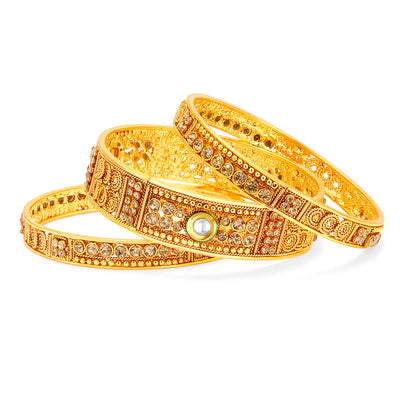 Sukkhi Modern Gold Plated Bangle For Women-1