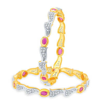 Sukkhi Stunning Gold Plated CZ Set of 2 Pair Bangle Combo For Women-2