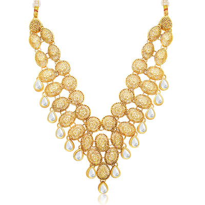 Sukkhi Alluring Gold Plated Necklace Set For Women-1