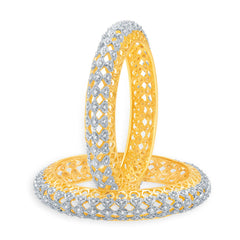 Sukkhi Eminent Gold And Rhodium Plated CZ Bangles For Women