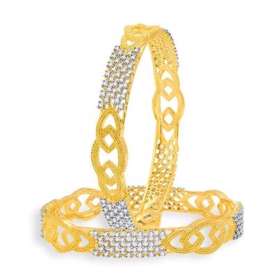 Sukkhi Beguiling Gold And Rhodium Plated CZ Bangles For Women