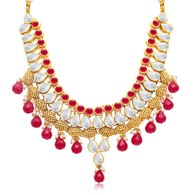 Sukkhi Exquitely Gold Plated Necklace Set For Women-1