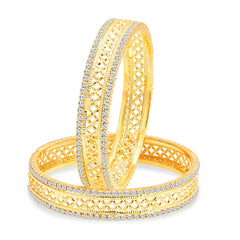 Sukkhi Angelic Gold Plated AD Bangle For Women