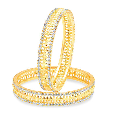 Sukkhi Sparkling Gold Plated AD Bangle For Women