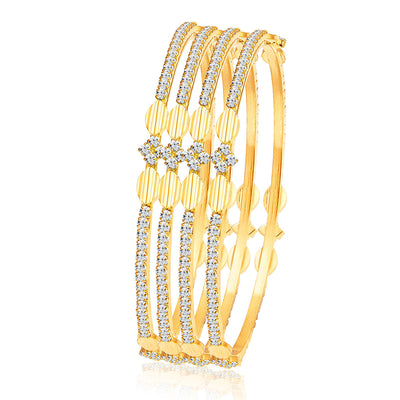 Sukkhi Blossomy Gold Plated AD Bangle For Women