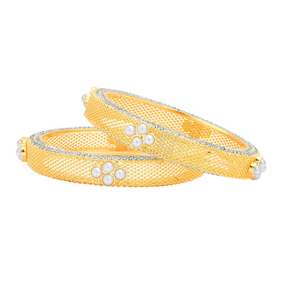 Sukkhi Delightful Gold Plated AD Bangle For Women-1