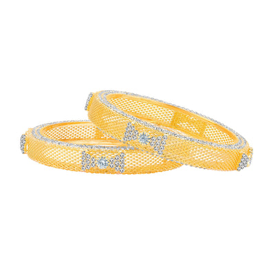 Sukkhi Sublime Gold Plated AD Bangle For Women-1