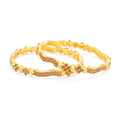 Sukkhi Enchanting LCT Stone Gold Plated AD Bangle For Women-1