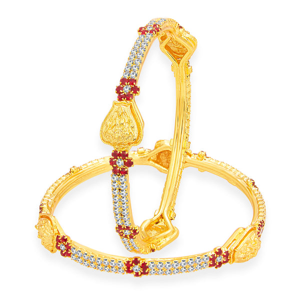 Sukkhi Luxurious Laxmi Temple Gold Plated AD Bangle For Women