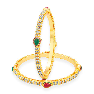Sukkhi Glorious Gold Plated AD Bangle For Women