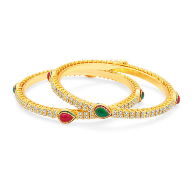 Sukkhi Glorious Gold Plated AD Bangle For Women-1