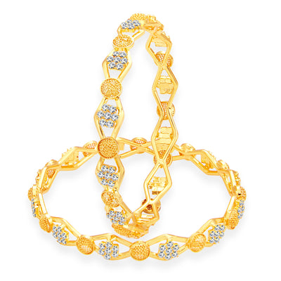 Sukkhi Alluring Gold Plated AD Bangle For Women