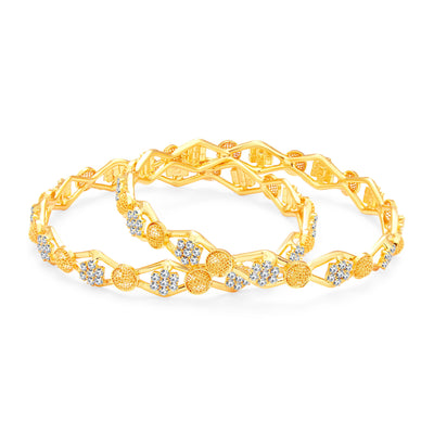 Sukkhi Alluring Gold Plated AD Bangle For Women-1