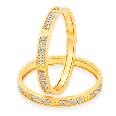 Sukkhi Magnificent Gold Plated AD Bangle For Women