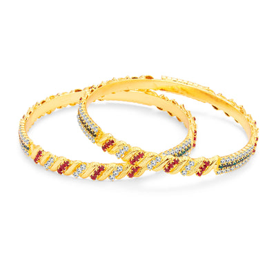 Sukkhi Traditionally Gold Plated AD Bangle For Women-1