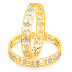 Sukkhi Modish Gold Plated AD Bangle For Women