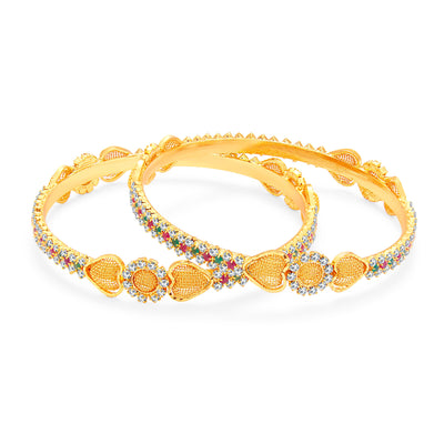 Sukkhi Blossomy Gold Plated AD Bangle For Women-1