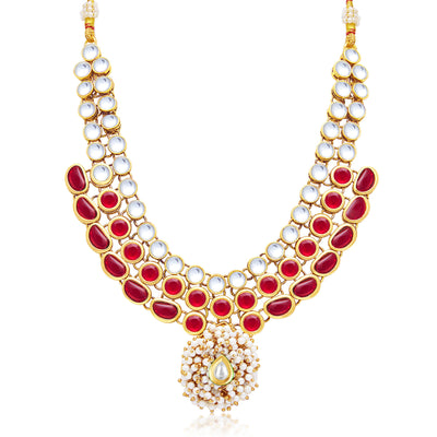 Sukkhi Sleek Gold Plated Necklace Set For Women-1