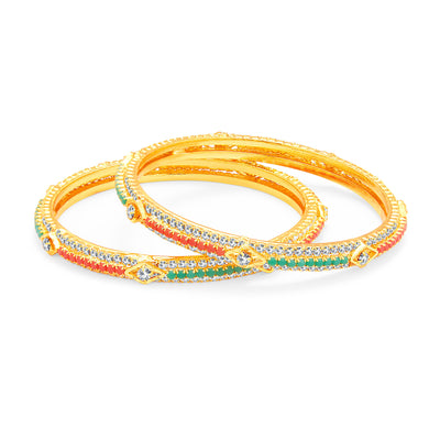 Sukkhi Cluster Gold Plated AD Bangle For Women-1
