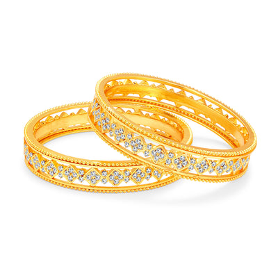 Sukkhi Eye-Catchy Gold Plated AD Bangle For Women-1
